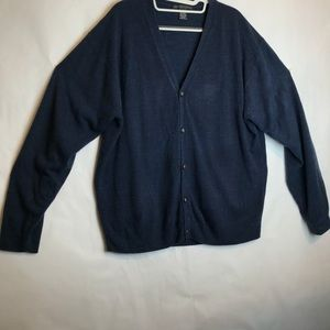 GEOFFREY BEENE DARK BLUE CARDIGAN SWEATER SIZE XL